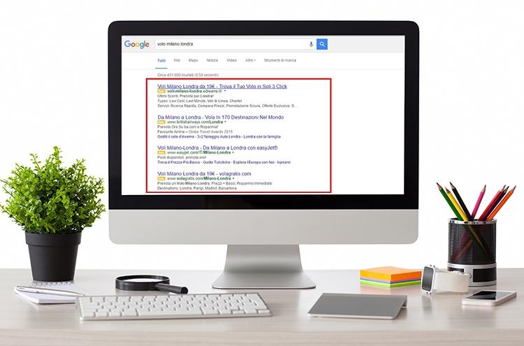 Google riduce gli annunci sponsorizzati